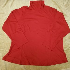 Coldwater Creek 100% Cotton Red TNeck NWT 3X